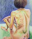 Life drawing - Pastel on paper