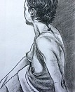 Life drawing. Charcoal on paper