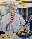 Peter serves another great dish - Acrylic on canvas