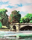 Sketch of Bridge over the Serpentine. POSCA pens on paper